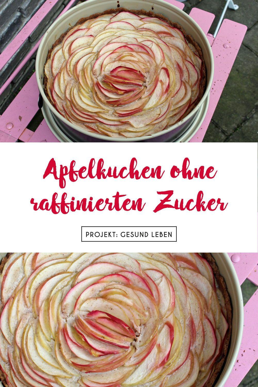 Rezept: Apfelkuchen ohne raffinierten Zucker (Apfelrosen) - Projekt: Gesund leben | Clean Eating, Fitness & Entspannung