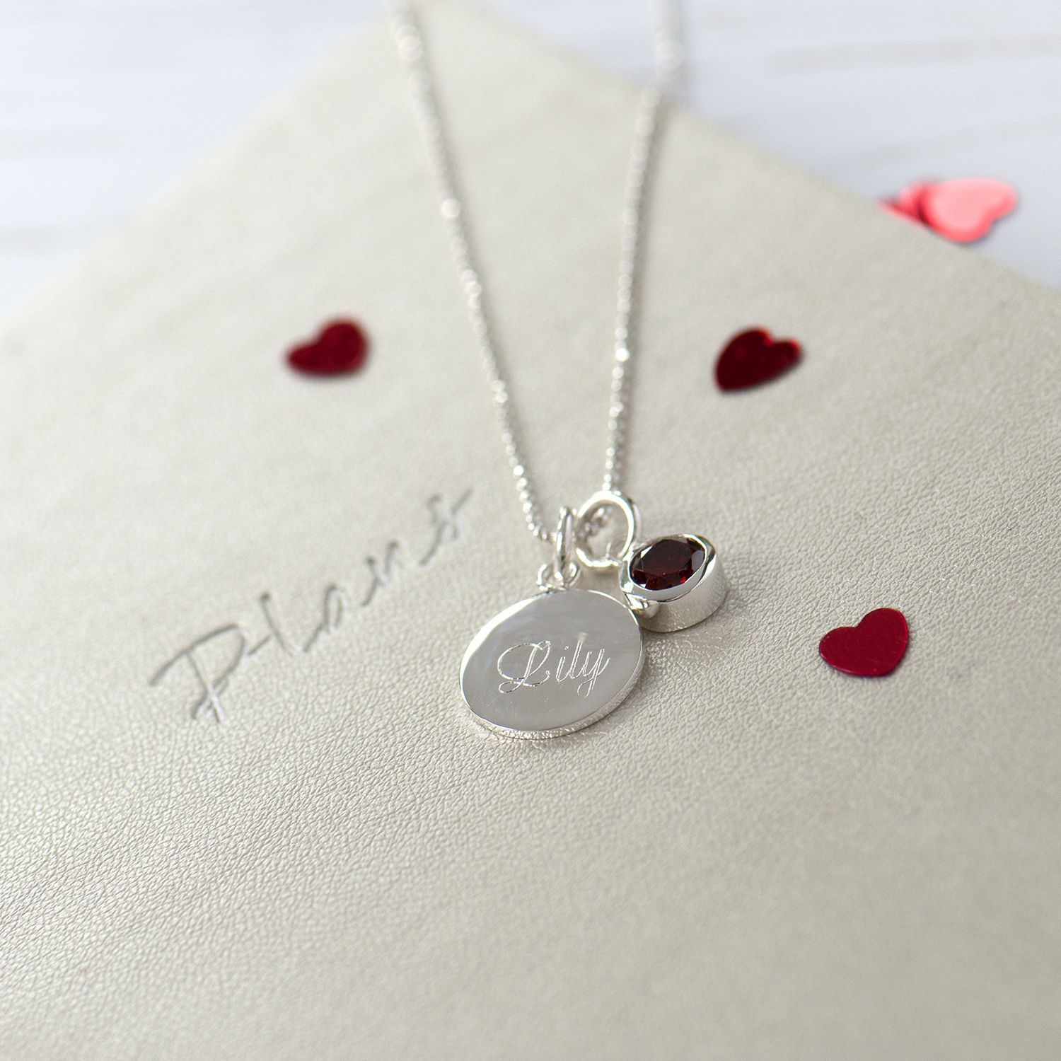Personalised Sterling Silver Necklace Name Necklace Date Necklace September Birthday Necklace Custom Birthstone Jewelry Engraved Pendant Sterling Silver Necklaces Silver Birthstone Jewelry
