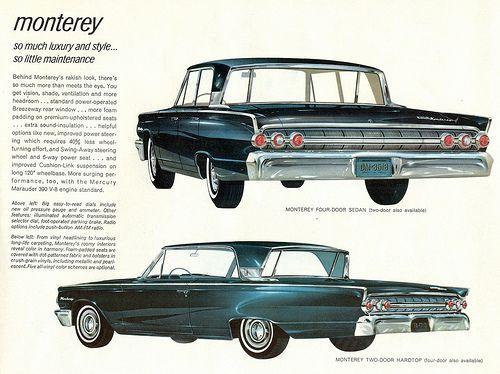 1963 Mercury Monterey Breezeway 4 Door Sedan and 2 Door