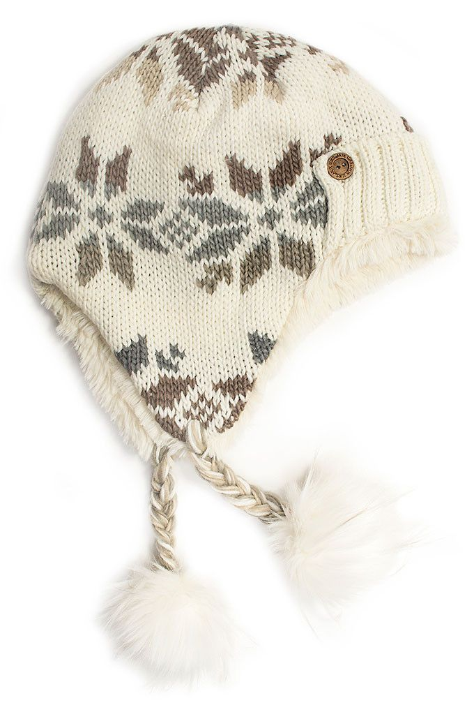 Snowflake Trapper Hat by Muk Luks - Ivory / Women\'s One Size