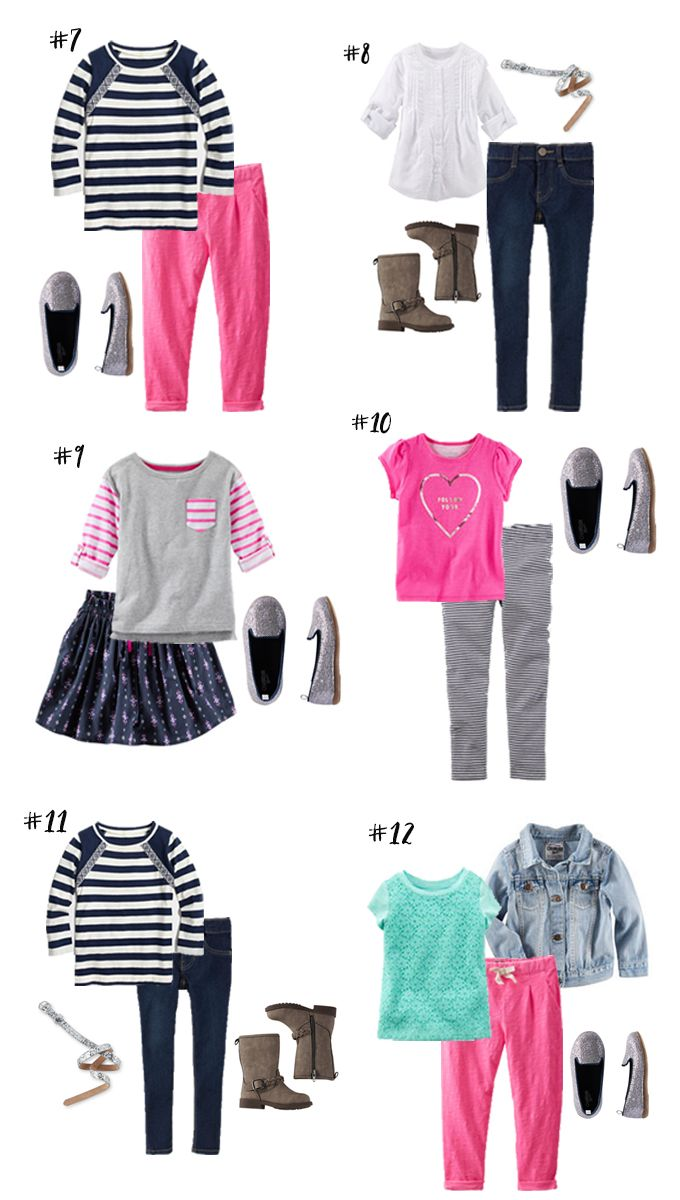Back-To- School Capsule Wardrobe- Girl 12 Different Outfits   Back-to-School   Pinterest ...