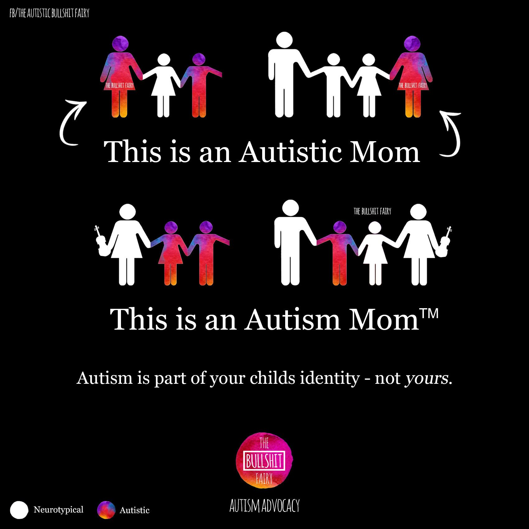 "Autism Mom TM and Autistic Mom The Bullshit Fairy ""Autism is"