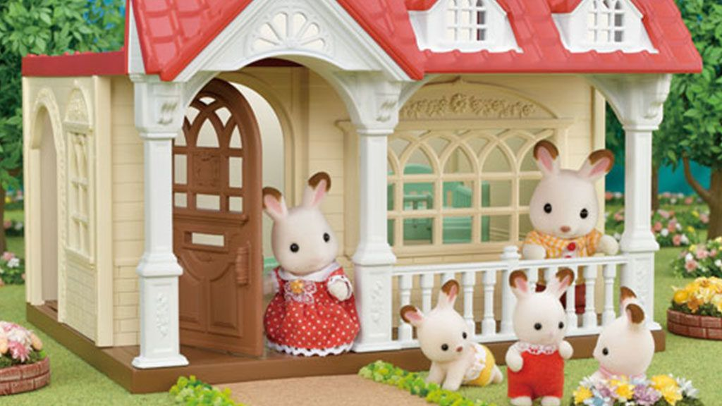 Sylvanian Families Household furniture set chocolate rabbits triplets set 204