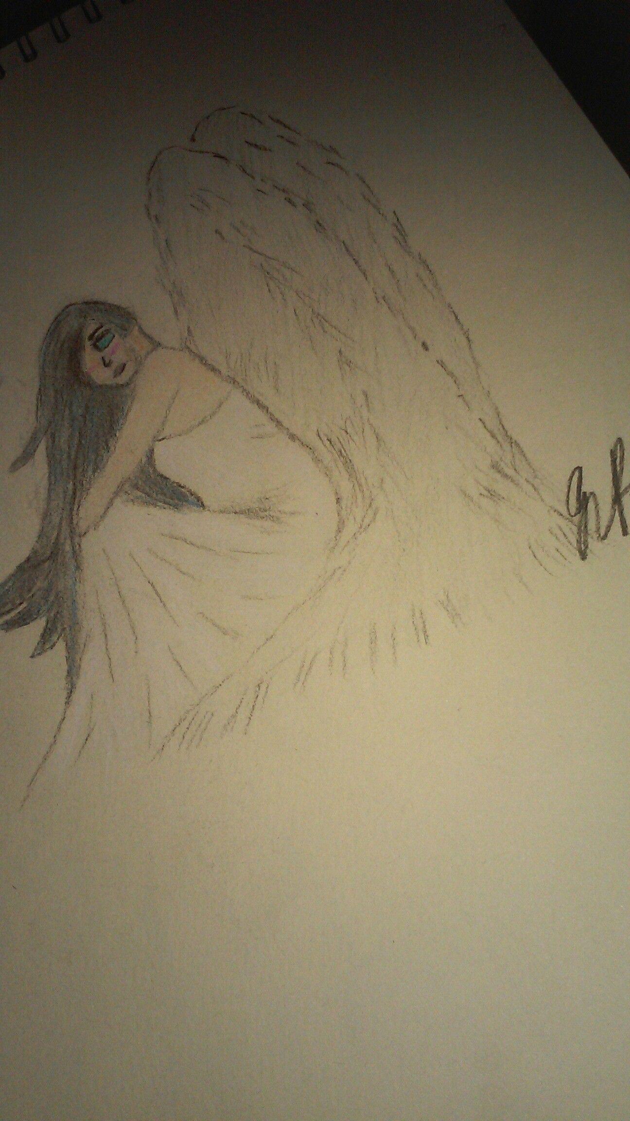 Sad Angel drawing