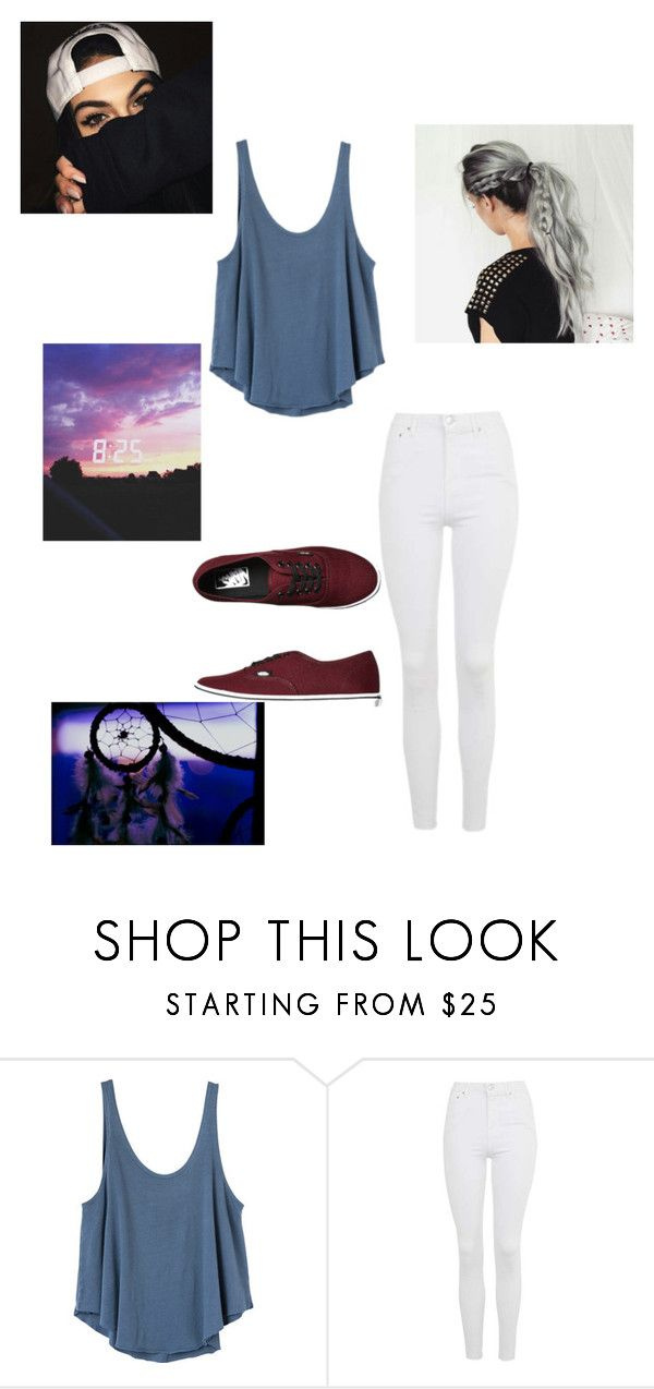 """""""Long day"""" by correakenia ❤ liked on Polyvore featuring RVCA, Topshop and Vans"""