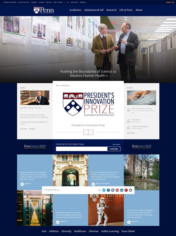 30 University And College Websites Inspiration Designyep University Website College Website Colleges And Universities