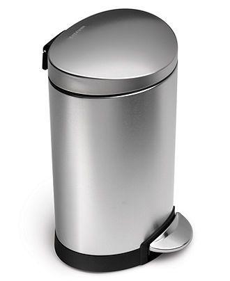 Best Trash Can Mini Semi Round Step Can 6 Liter Trash Bins 400 x 300