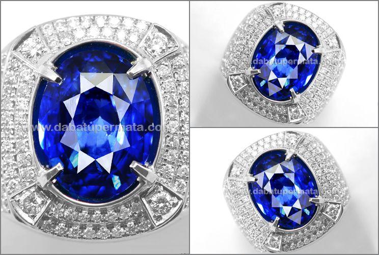 Sparkling Royal BLUE SAFIR Srilanka GRS Sertifikat (SPC 322)