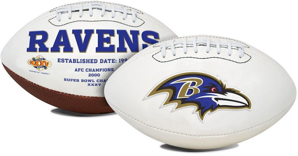 Baltimore Ravens Football Full Size Embroidered Signature Series