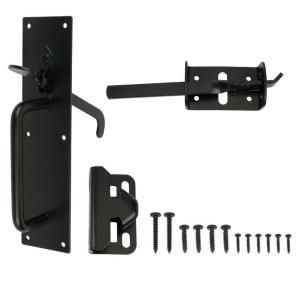 Black Heavy Duty Gate Thumb Latch 20524 At The Home Depot