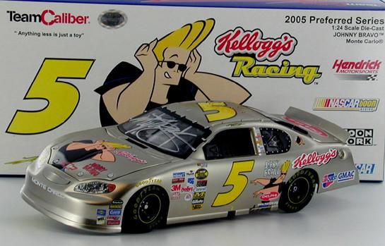 Kyle Busch 5 Kellogg S Johnny Bravo 2005 Monte Carlo Autographed Kyle Busch Nascar Diecast Diecast