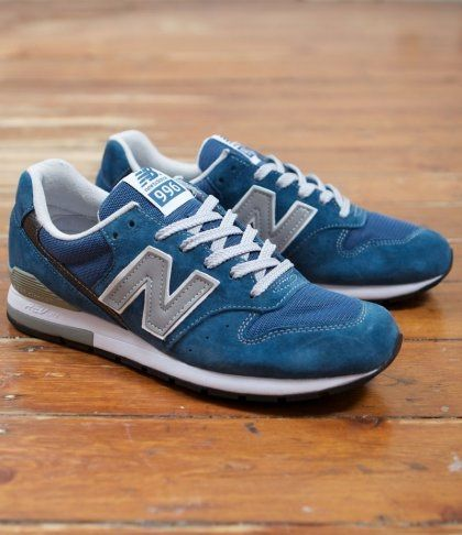 Discount New Balance 996 Blue Grey White Womens Shoes
