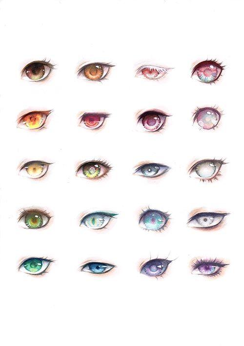 Varios Modelos De Olhos Coisas Para Desenhar