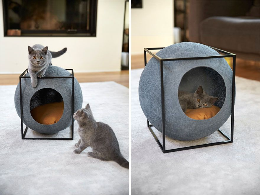 Modern Cat House stylish cat bed for your modern home also provides jobs to people