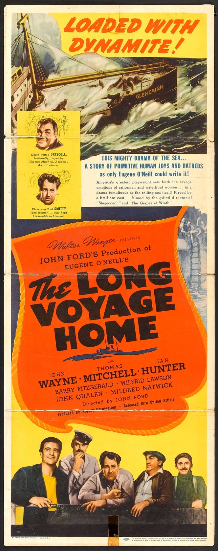 The Long Voyage Home (United Artists, 1940) Starring John