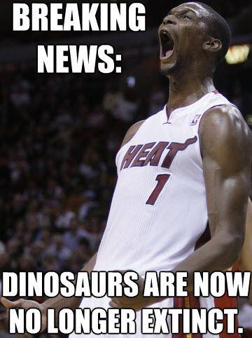 af7348ad6e7d15eba6726a9d0349cdc5 breaking news dinosaurs are no longer extinct bosh meme miami