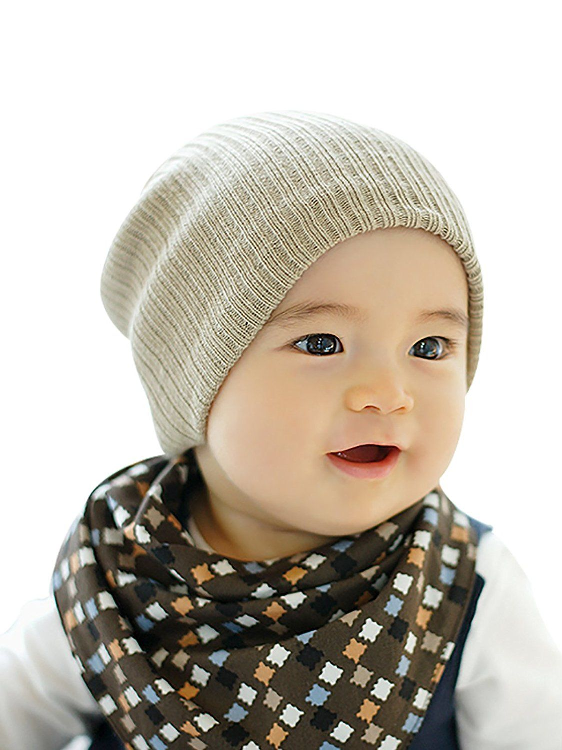 97fa08d1990 Amazon.com  Zando Lovely Baby s Warm Solid Color Hat Winter Toddler Knitted  Caps Comfort Cute Infant Beaine Hat for Baby Girls Beige One Size  Clothing