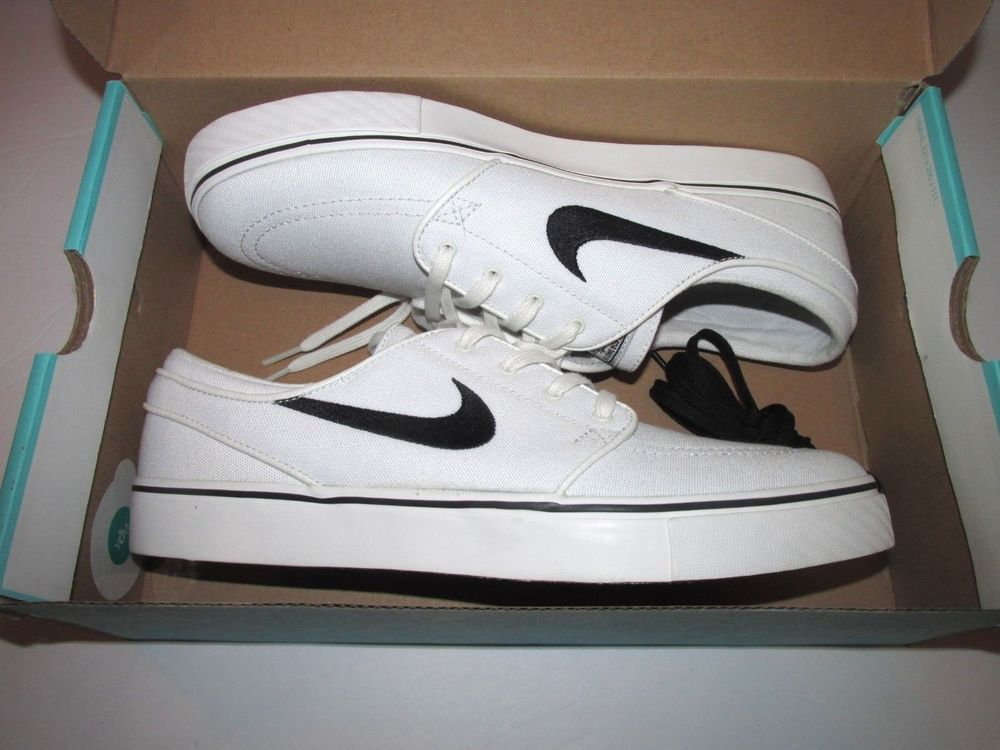 buy popular c9851 360fa Nike SB Stefan Janoski Canvas Skate Shoes Mens 9.5 Summit White Black  615957 100  Nike  SkateShoes