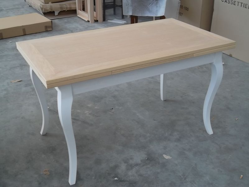 Tavolo allungabile legno shabby chic bicolore tavoli allungabili in legno pinterest home - Tavoli allungabili in legno ...