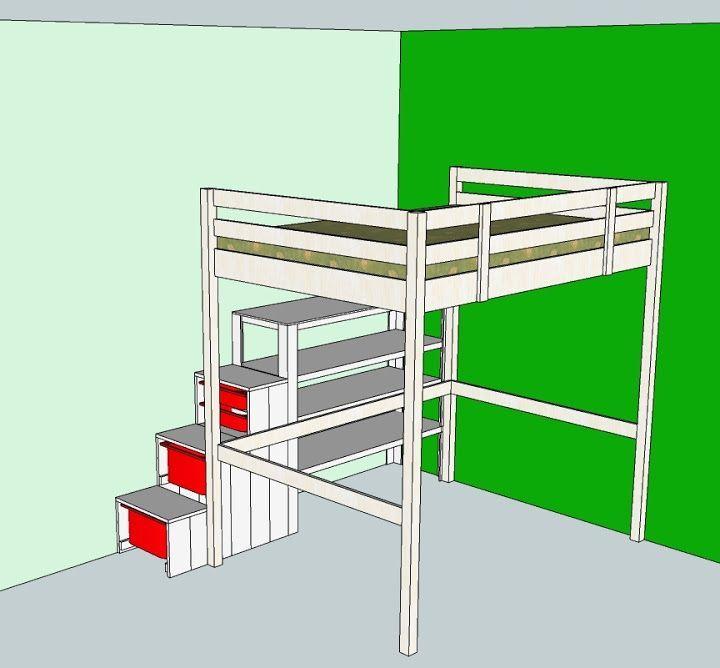 Bild Ikea loft bed hack, Ikea loft bed, Loft beds for teens