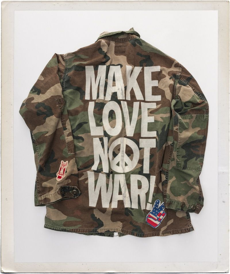 b0119180262 Make Love Not War Custom Military Jacket in 2019 | shop | Vintage ...
