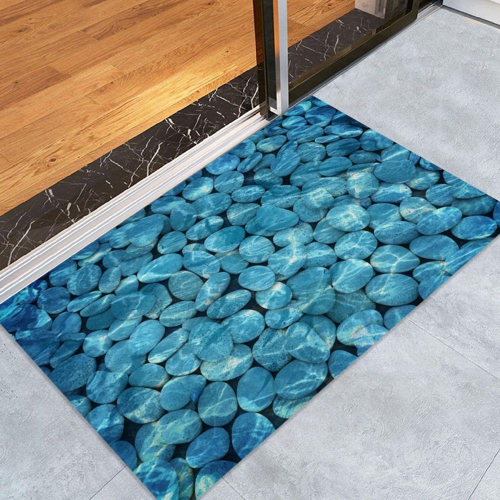 Pebbles In Water Pattern Indoor Outdoor Area Rug Water Patterns Floor Area Rugs Area Rugs