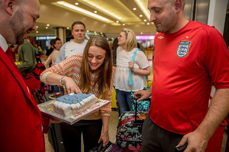 Birmingham Airport celebrations cake Jet2 holidays