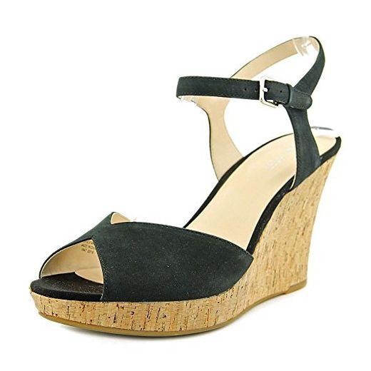 sports shoes b09ee 4ef56 Nine West Big Easy Damen US 11 Schwarz Keilabsätze Sandale ...