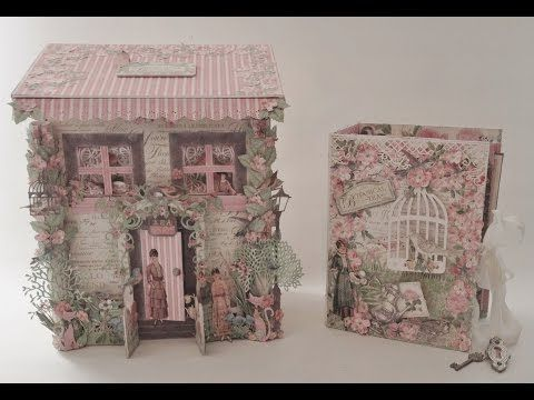 G45 Botanical Tea Mail Box House for the Mini Album - Blog tutorial