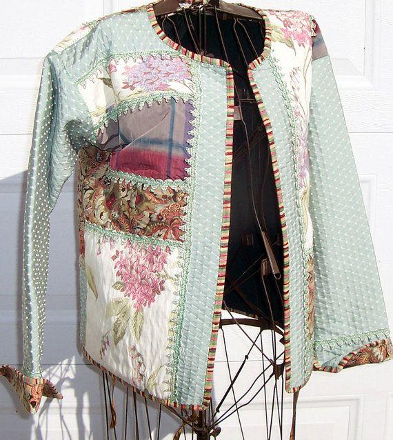 Women's size large quilted sweatshirt jacket by lavendersugarplum ... : quilted sweatshirt jacket - Adamdwight.com