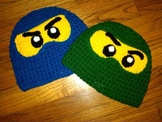 Ninja lego ninjago inspired crochet hat i can knit too 0-toddler ...