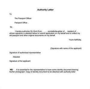 Authorization Letter Collect Passport From Post Office Sample Pdf