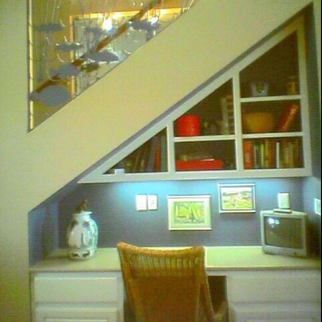 Built-in desk Under stairs ORGANIZE UNDERNEATH STAIRS Pinterest