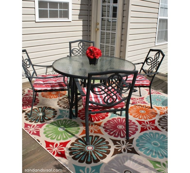Colorful Floral Patio Rug Creative Outdoor Pinterest Patio