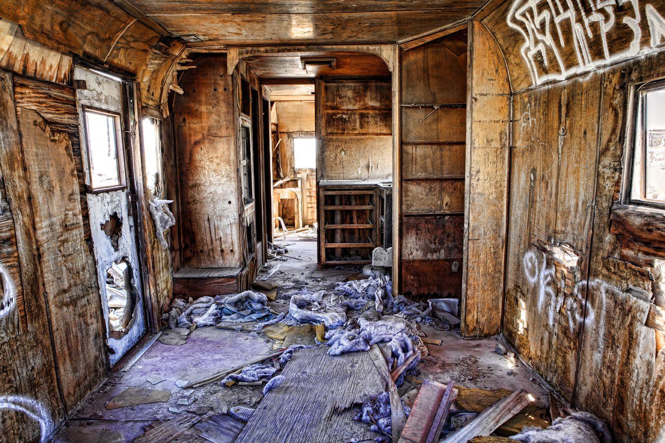 Abandoned Trailer Salton Sea CA