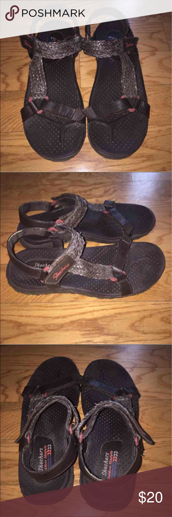 Skechers Outdoor Lifestyle Reggae sandals 7.5 Brown Sketchers Outdoor Lifestyle Reggae sandals size women's 7.5. Worn twice! Super comfortable! I wore them camping/hiking and my feet never hurt!   Tags: Chacos, Chaco, tevas, teva, sport, reef, sanuk, toms, Birkenstock Skechers Shoes Sandals