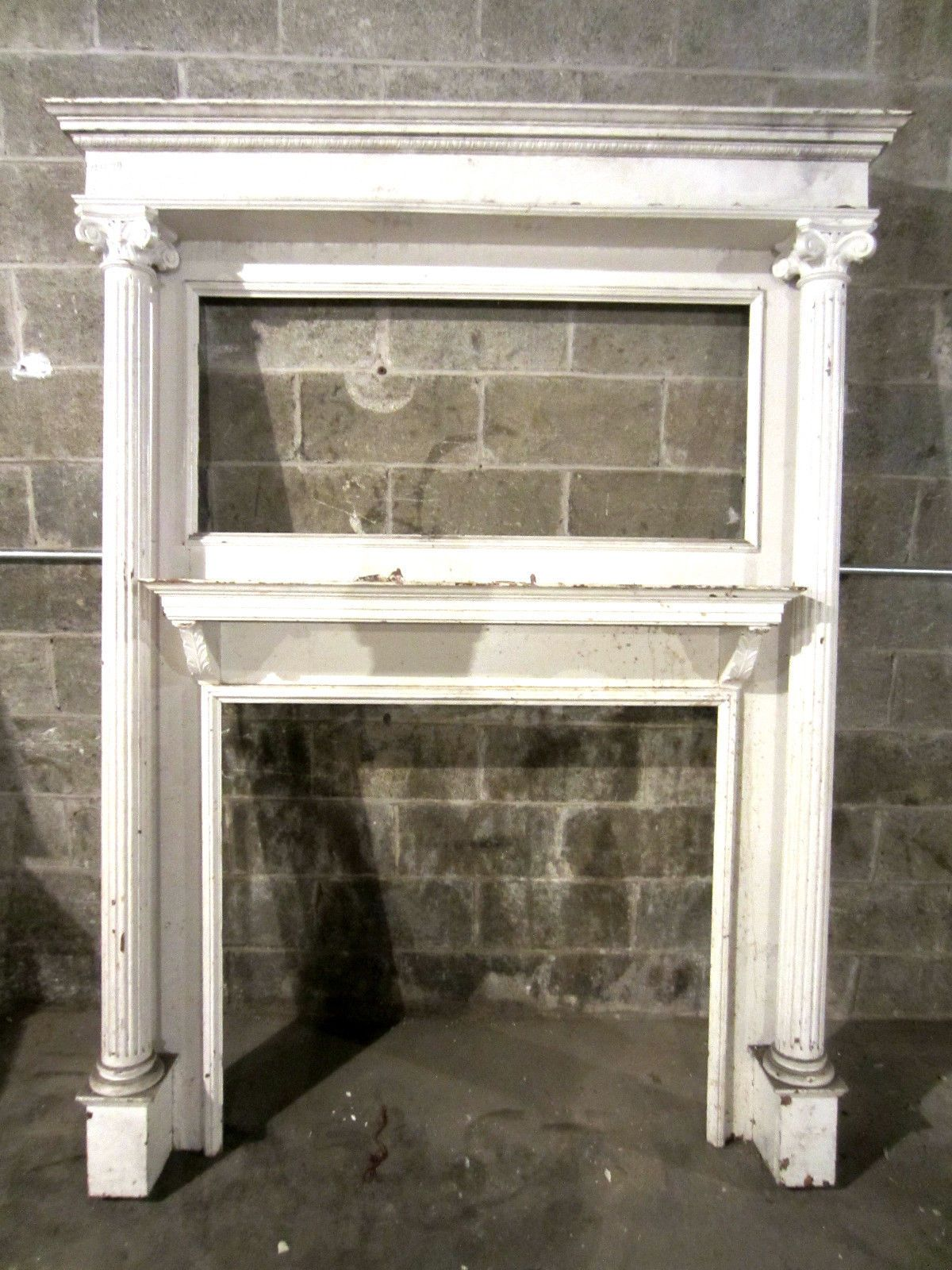 Old Farmhouse Fireplaces Vintage Fireplace Mantels Tall Antique Carved Oak