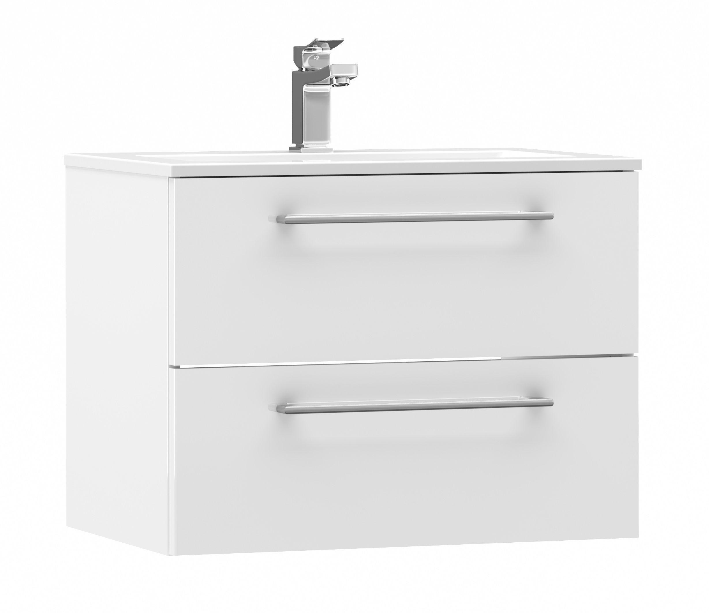 Cooke & Lewis Paolo Gloss White Vanity Unit & Basin Set   Vanity ...