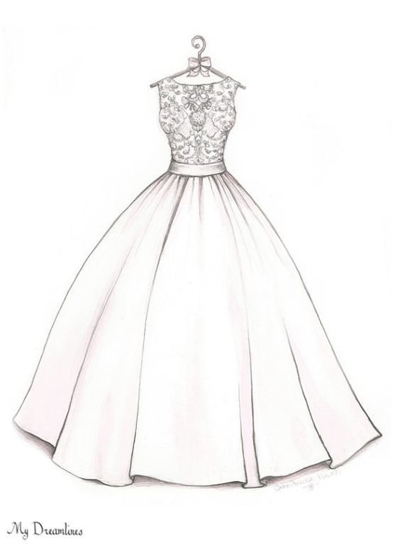 Resultado de imagen para dress drawing dibujos for How to draw a wedding dress