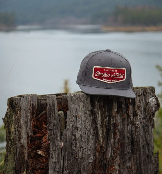 e3bff752795d5 Campers Club Hat - The Great PNW  pnw  upperleftusa  thegreatpnw  hat   billed  patch  crimson  baseballhat  gifts  apparel  pacific  northwest