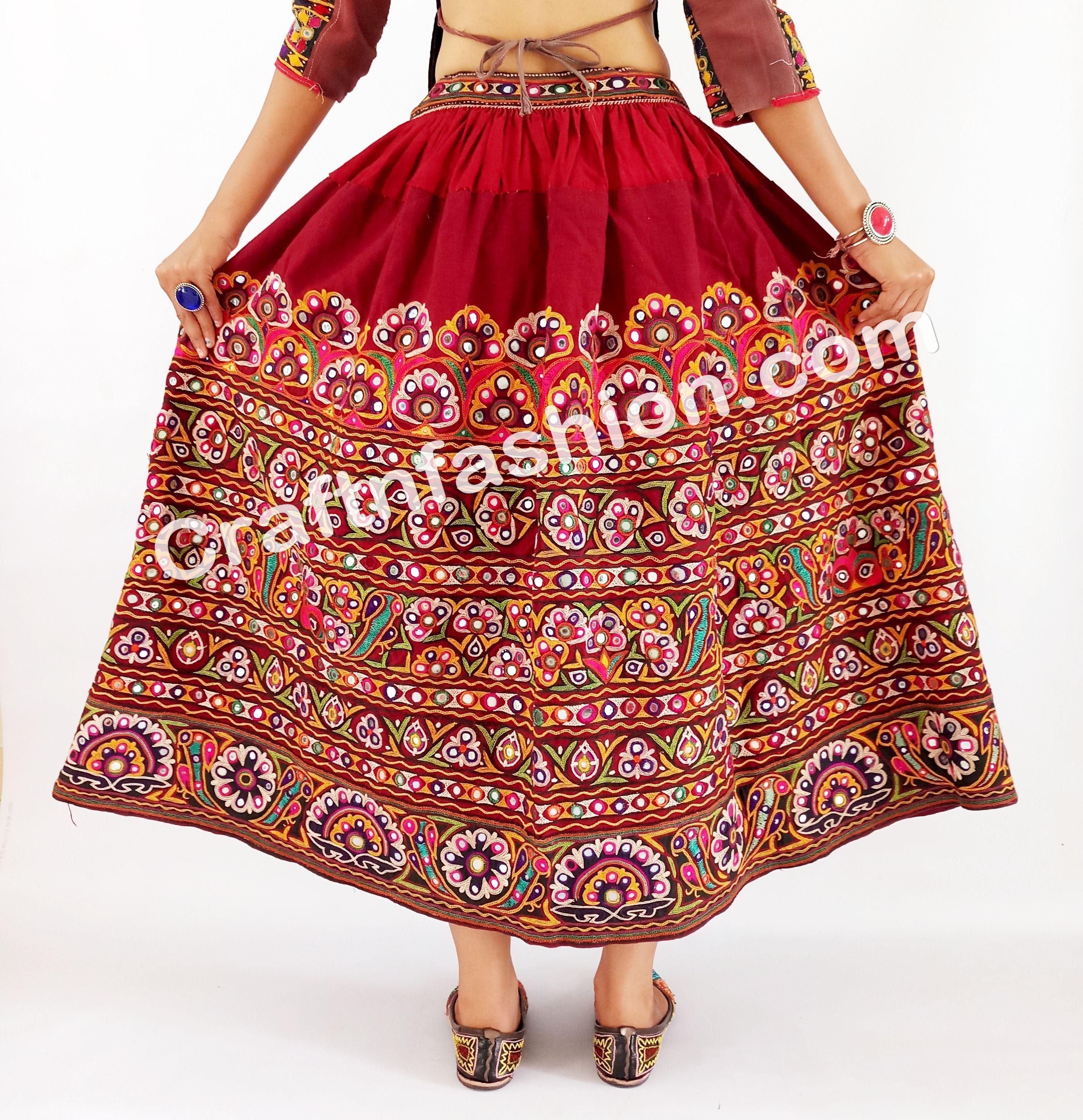 a750c7e28c Rajasthani Readymade kutchi Rabari skirt- Hand Embroidered Rabari Girl's  skirts