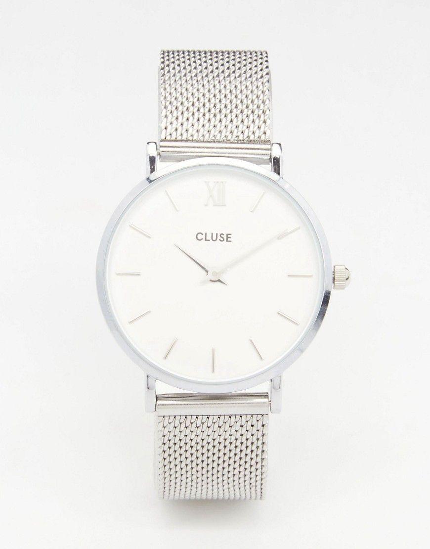 Cluse Watch Minuit Silver Cl30009Accessories Mesh cK13FJTl