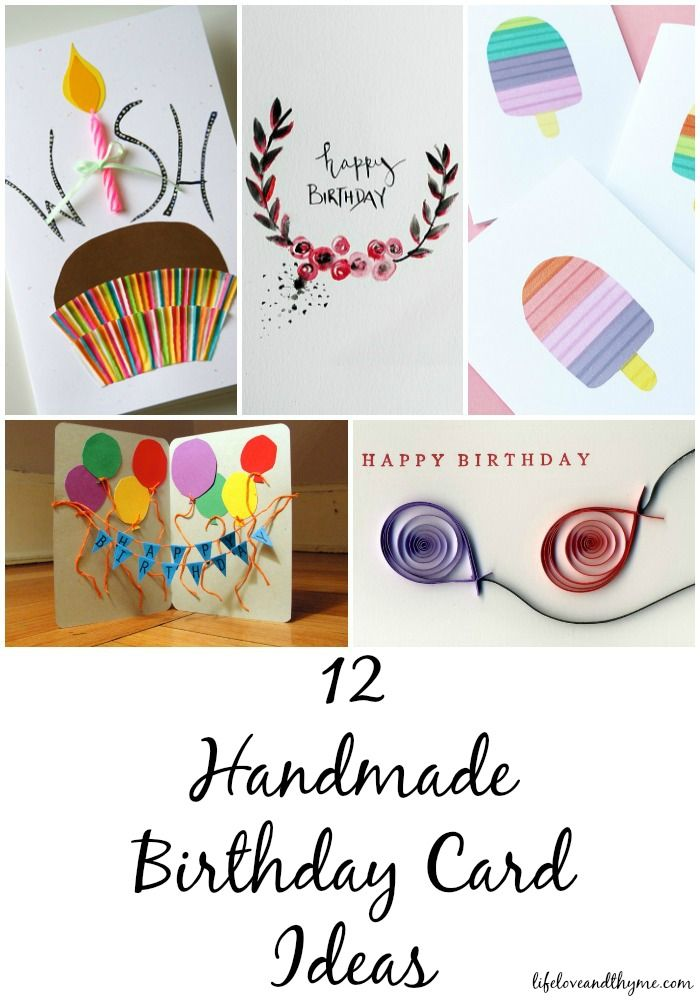 Wonderful Ideas Making 65th Birthday Card Part - 6: 12 Handmade Birthday Card Ideas
