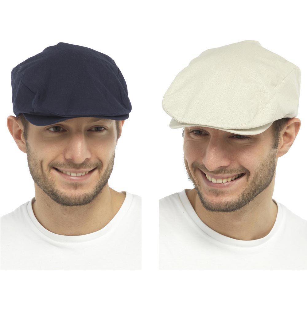 497af9234d3 Mens cotton linen vintage style flat cap summer by tom franks ...