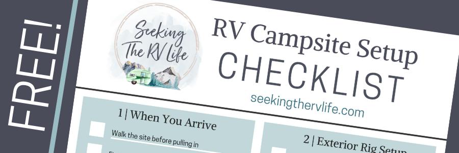 Printable Rv Setup Checklist Google Search Rv Camping Checklist Travel Trailer Camping Camping Camper