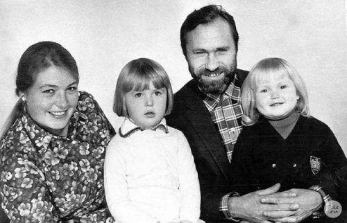 Семейные фото известных советских актёров | Актер, Редкие ...