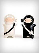 Ninjas Salt & Pepper Shaker Set
