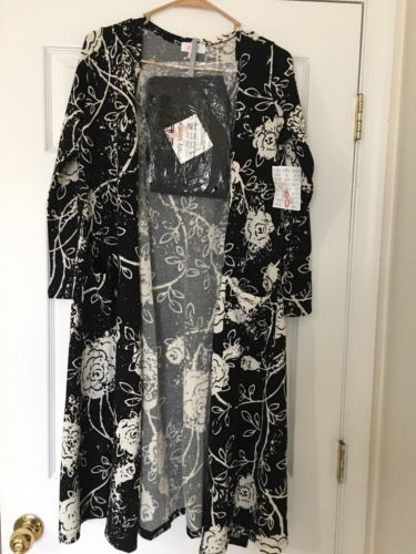 BNWT LuLaRoe Black Leggings & Disney Roses Duster Sarah Cardigan RARE Unicorn https://t.co/O4WeZKYIDh https://t.co/cMPOy2ptcU