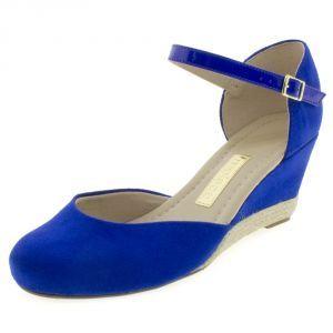 e72f01d4da Sapato Feminino Boneca Espadrille Azul Moleca - 5270601