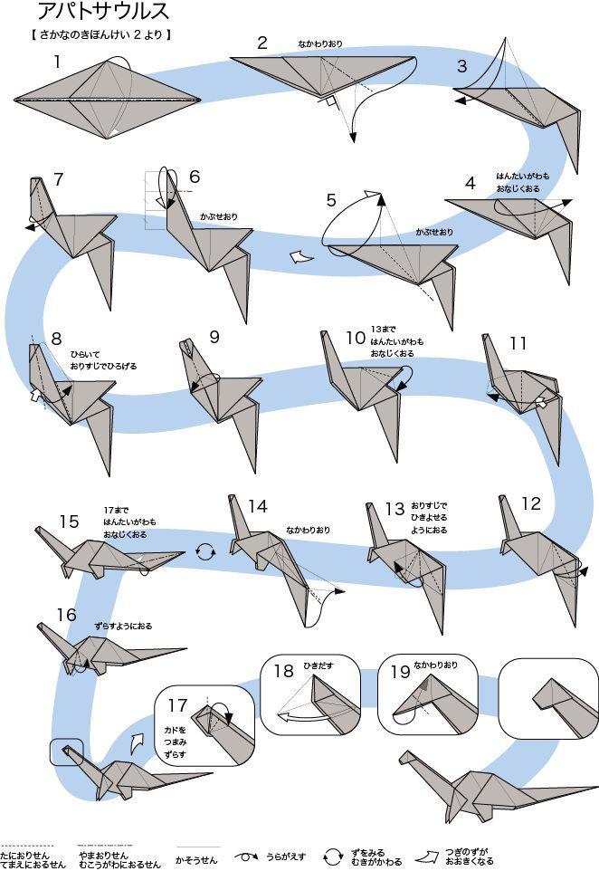 Wie man Origami Apatosaurus macht - DIY Papier Blog #origamianleitungen